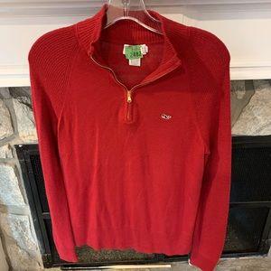 Vineyard Vine zip up sweater